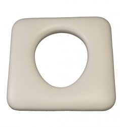 CUSM3 Commode hole to rear white 440mm x 430mm
