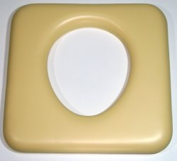 CUSM3 Commode hole to rear almond 440mm x 430mm