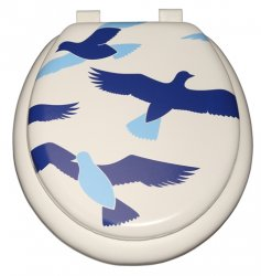 Child - Blue Birds on White