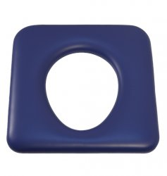 Universal washable vinyl pillow - blue