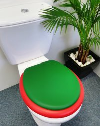 Emerald lid on Red seat
