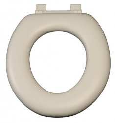 Oval Toilet Suite - no lid - white