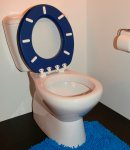 Oval toilet Seat Atlas blue no lid