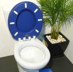 Oval toilet Seat Atlas blue