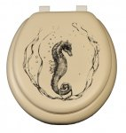 Sea Horse on Almond / beige