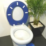 Oval Toilet Suit - no lid - blue